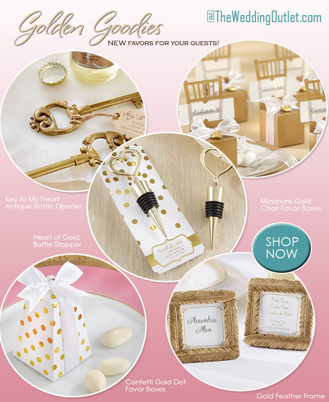 Golden Goodies : Adorable and Functional Gold Wedding Favors | as seen on www.BrendasWeddingBlog.com