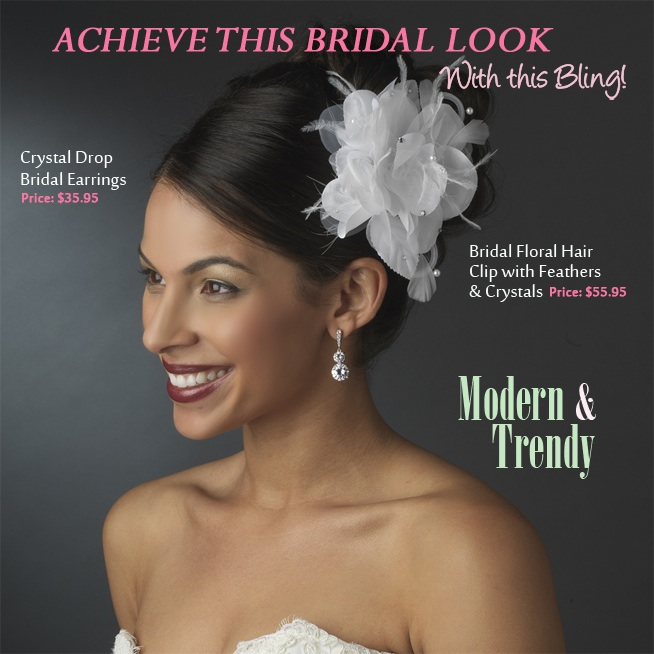 Modern and Trendy Bridal Style | come see how to achieve this look on www.brendasweddingblog.com