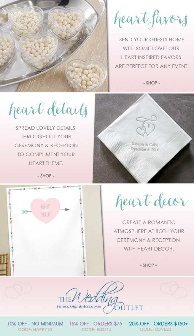 How to Create Your Heart Themed Wedding or Bridal Shower . . . from the details to the decorations / via www.BrendasWeddingBlog.com