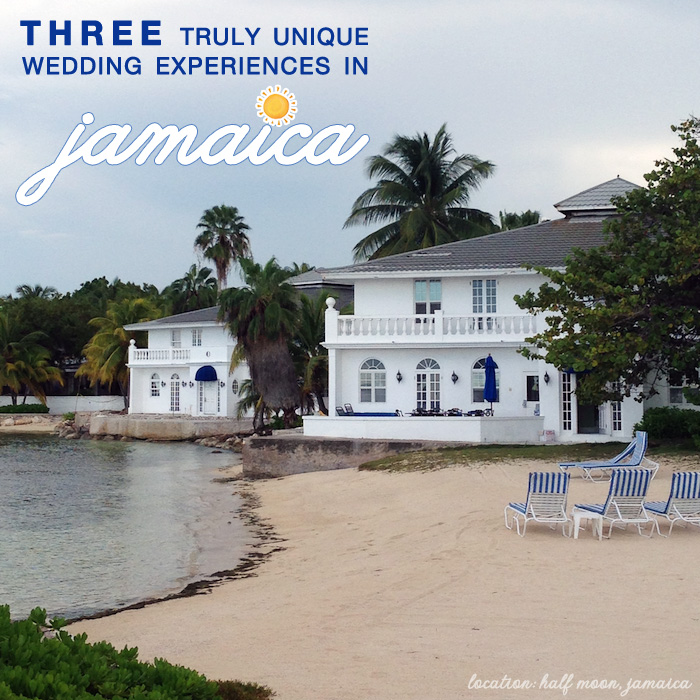 Three Truly Unique Wedding Experiences in Jamaica - see all 3 at www.BrendasWeddingBlog.com {Half Moon in Jamaica is featured in this photo}