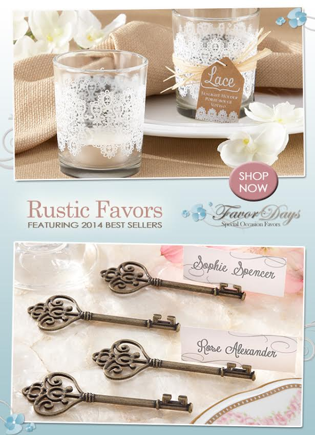 Rustic Wedding Favors : the bestsellers from Favor Days /  as seen on www.BrendasWeddingBlog.com