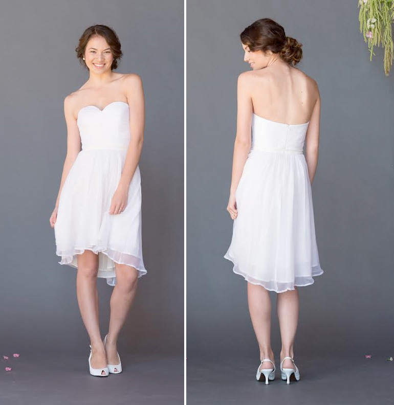 Silk and Chiffon Celia Grace Wedding Gown - {can be paired with a long skirt to create a convertible wedding dress} / as seen on www.BrendasWeddingBlog.com