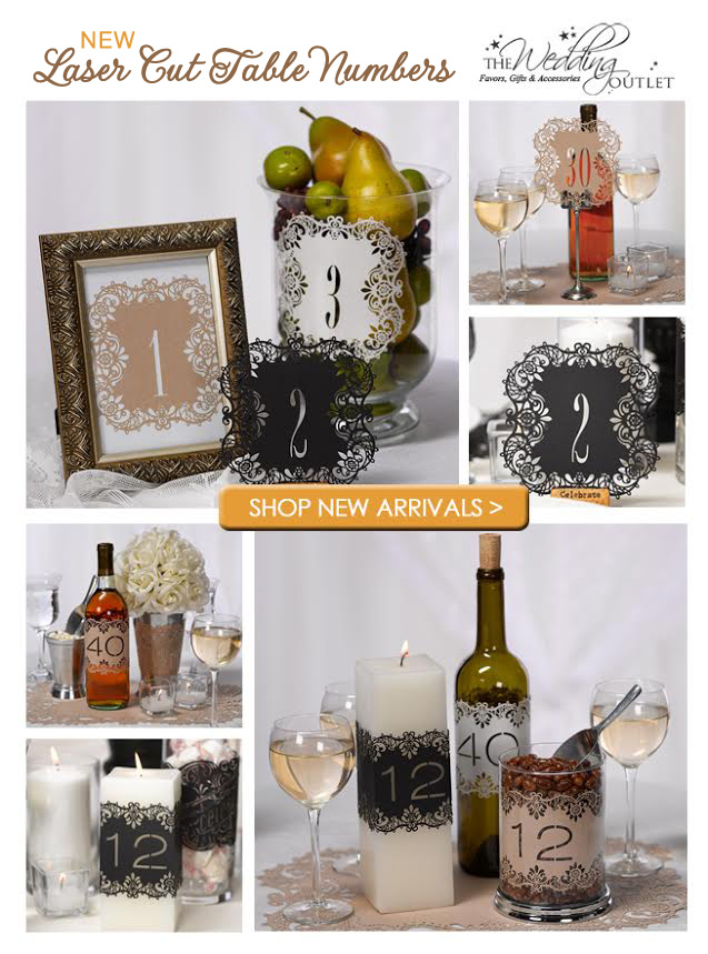 Wow your Wedding Guests with these Laser Cut Table Number Cards | from Rustic Weddings to Elegant Weddings, there's a choice for you / as seen on www.BrendasWeddingBlog.com