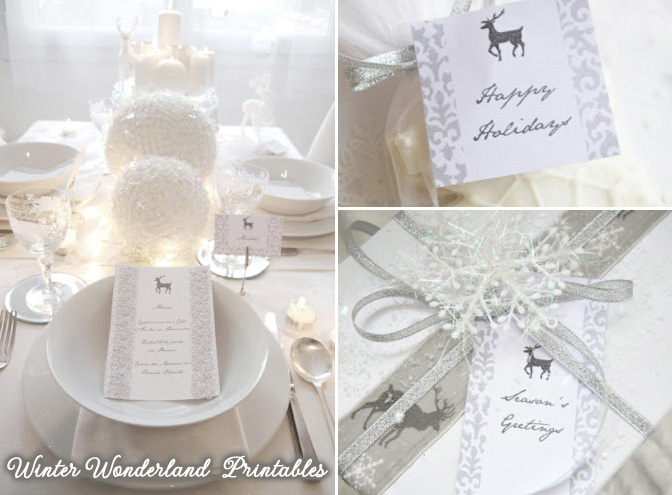 Winter Wonderland Printables : there's a 20% discount coupon code on www.BrendasWeddingBlog.com