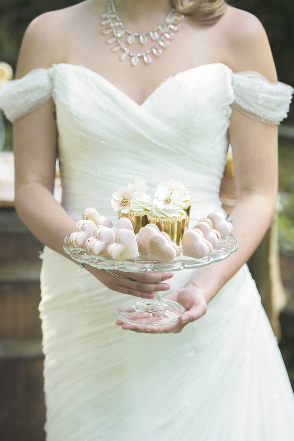 Pretty Sweet Treats from a Rustic Garden Wedding Photo Shoot / by D'Love Affair Weddings & Events / photo by L'Estelle Photography / as seen on www.BrendasWeddingBlog.com