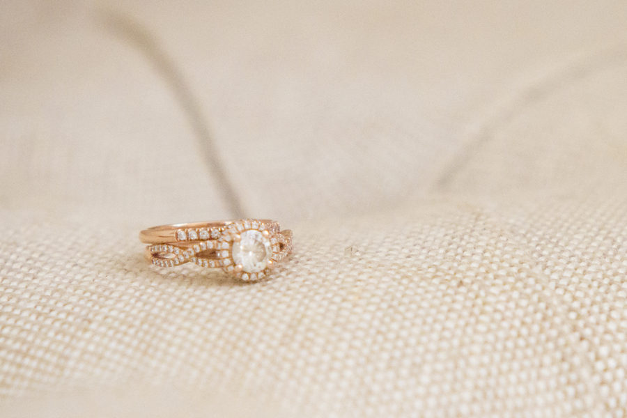 DIY Barn Wedding - engagement ring / photo by Town Country Studios / as seen on www.BrendasWeddingBlog.com