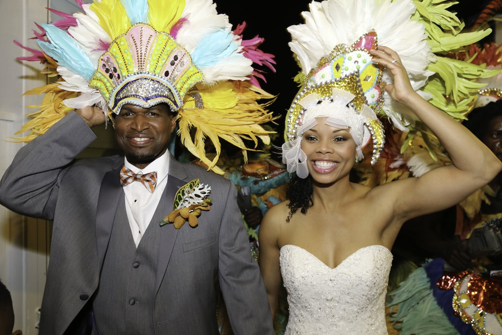 When Marrying in the Bahamas - consider celebrating with the Junkanoo festival - Bahamian Mardi Gras / as seen on www.BrendasWeddingBlog.com