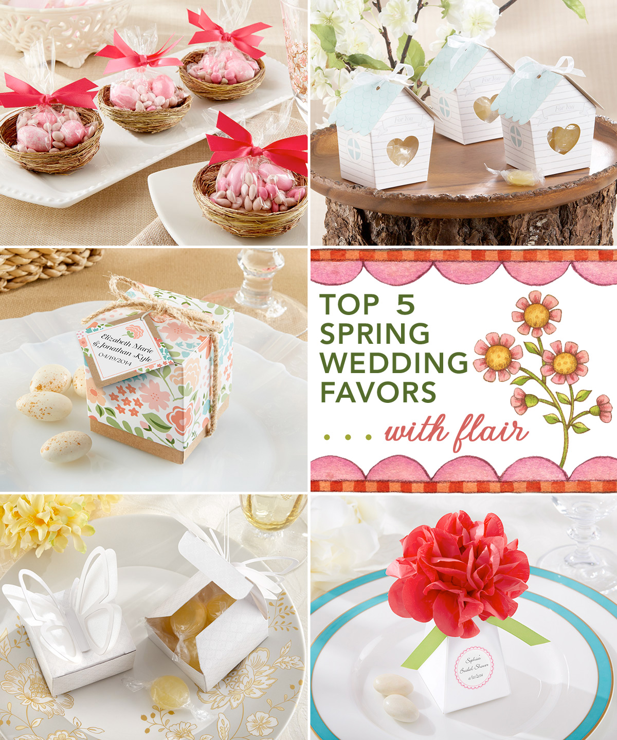 Top 5 Spring Wedding Favors . . . with flair from Kensington Classics / as seen on www.BrendasWeddingBlog.com