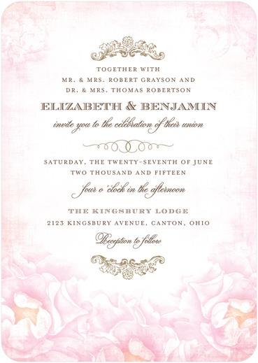 Precious Peonies Wedding Invitation / as seen on www.BrendasWeddingBlog.com