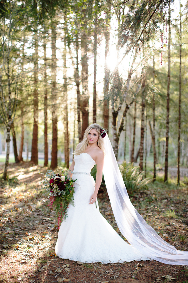 Beautiful Bridal Portrait for a Woodsy Themed Wedding / photo by Ashley Cook Photography / as seen on www.BrendasWeddingBlog.com