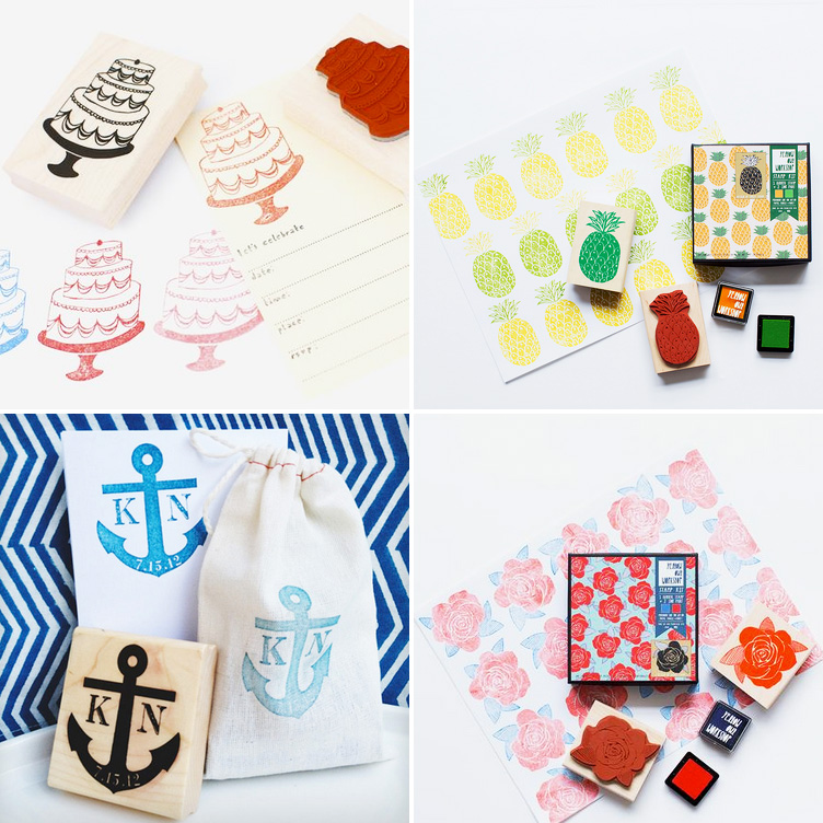 Rubber Stamps Sets that are Perfect for DIY Wedding Invitations and Party Invitations / as seen on www.BrendasWeddingBlog.com #rubberstamps #diyweddings