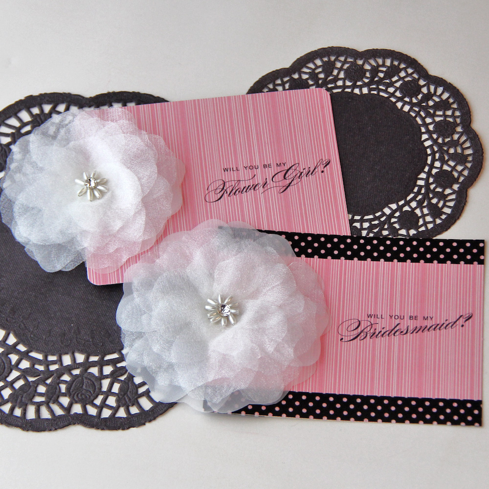 "How To DIY Embellished ""Will You Be My Bridesmaid"" Printable Cards / as seen on www.BrendasWeddingBlog.com"