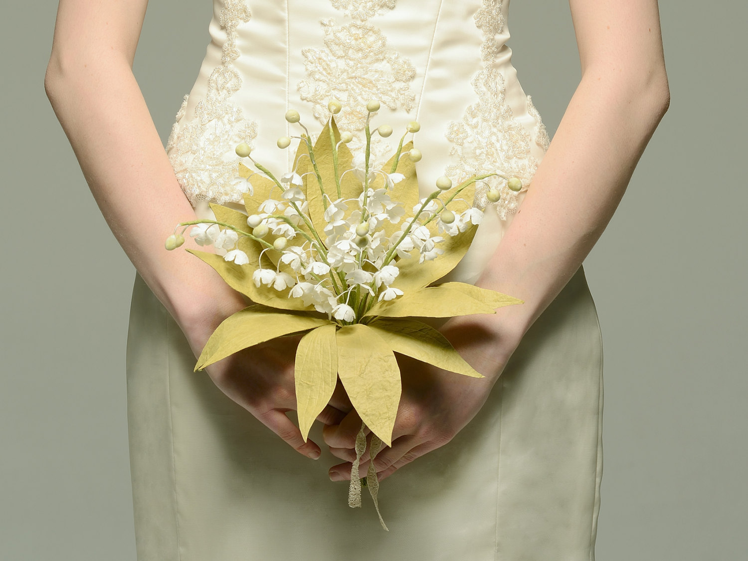 Lily of the Valley Paper Bridal Bouquet from Cee Bee Recycle