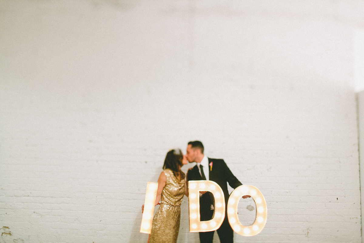 Vintage Inspired I Do Marquee Light for Weddings