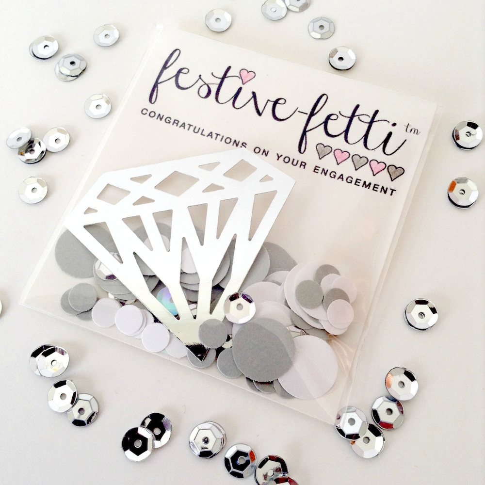 festive-fetti™ - celebrate an engagement or a bride-to-be with Confetti {custom colors + personalization}