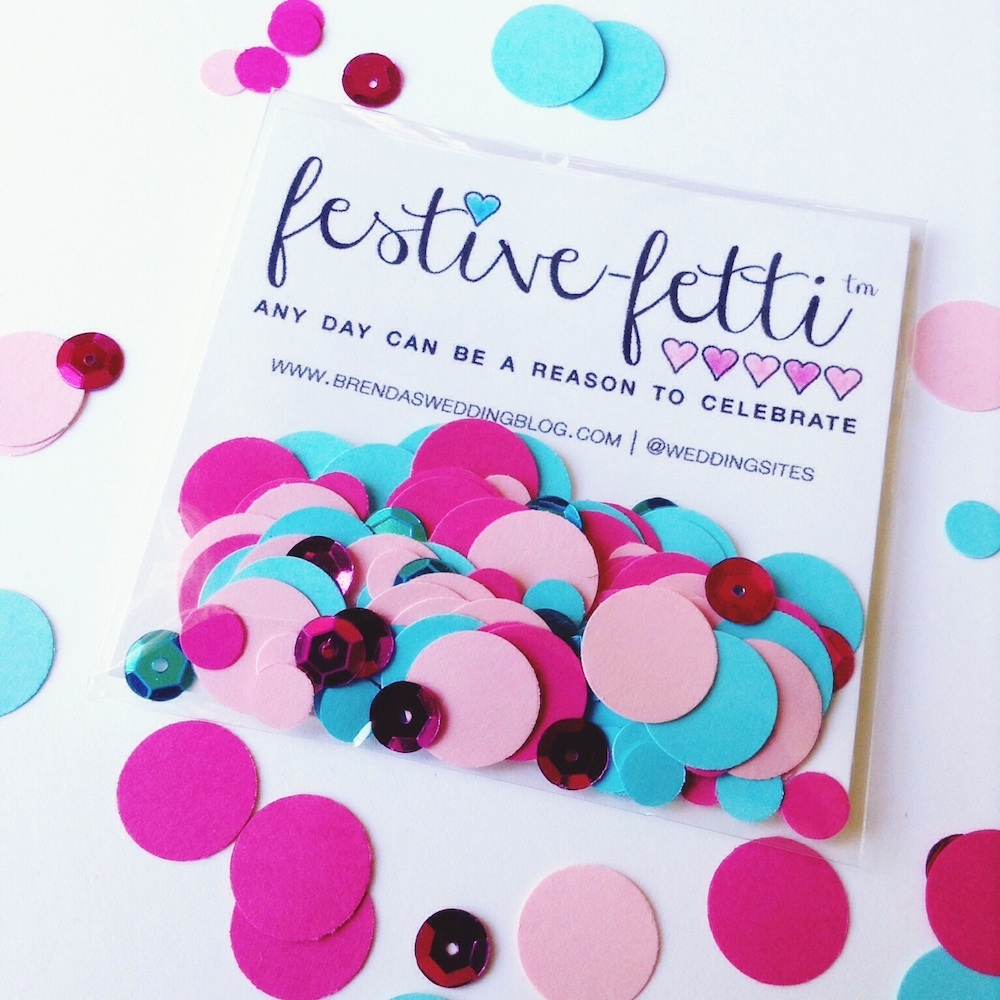 festive-fetti™ - Any Day is a Reason to Celebrate with Confetti {custom colors + personalization} Shown Here in Pink + Aqua