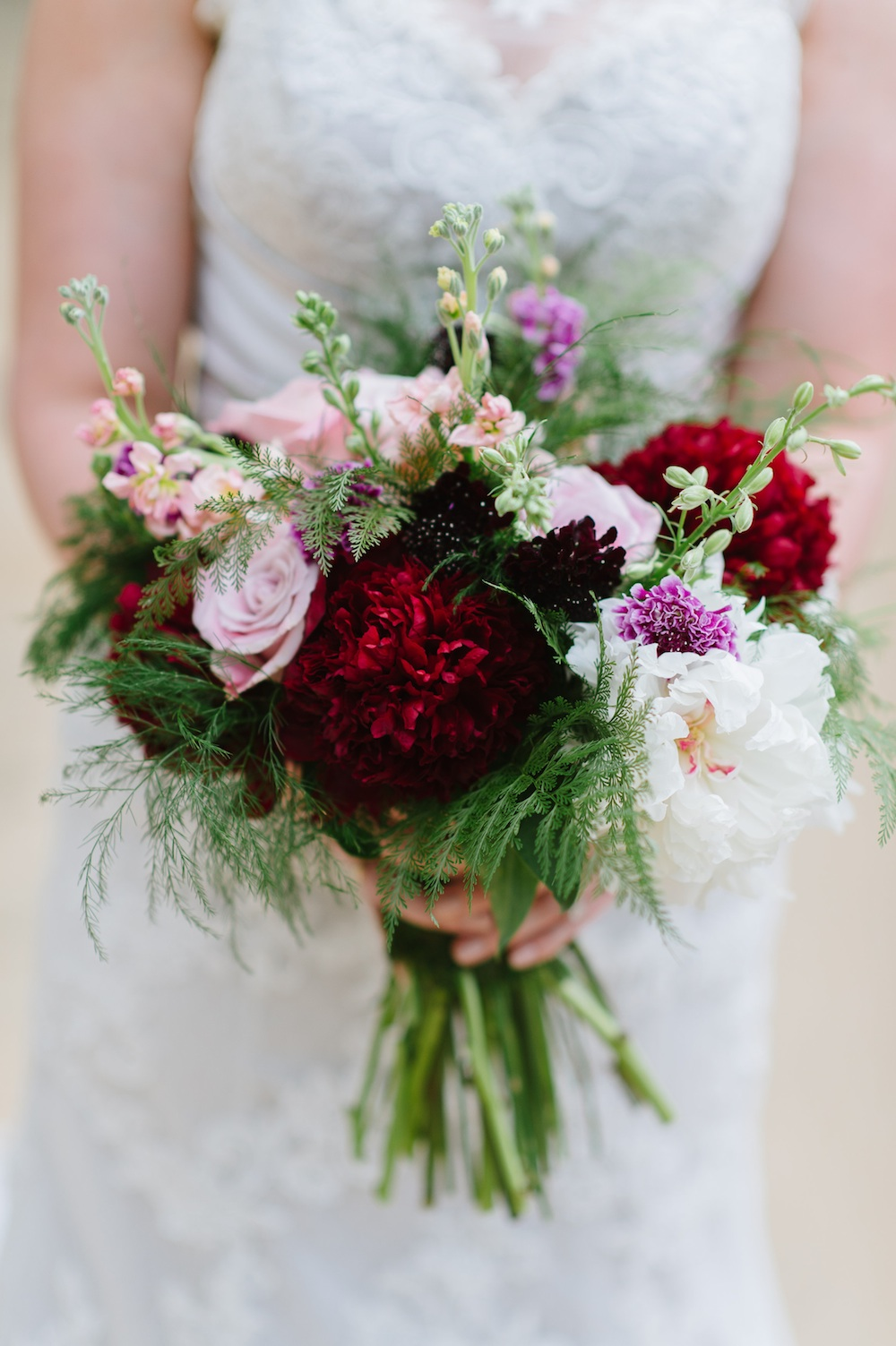 Woodland Flowers : Peony Wedding Bouquet by EightTreeStreet / photo by Natalie Franke Photography