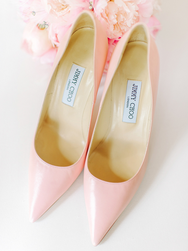 Pink Jimmy Choo Wedding Shoes : photo by Pasha Belman Photography