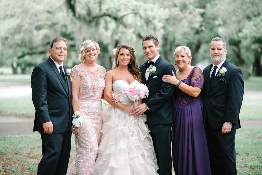 Happy Southern Bride and Groom with Parents : photo by Pasha Belman Photography