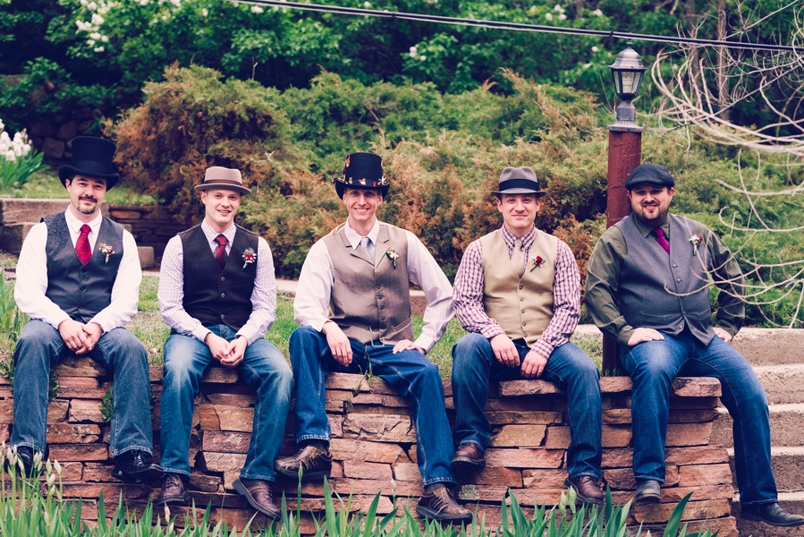 The Groom and His Groomsmen at their Colorado Wedding / photo by Annabelle Denmark Photography