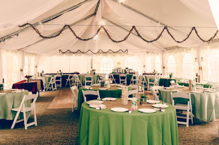 Colorado Wedding Tented Reception / photo by Annabelle Denmark Photography