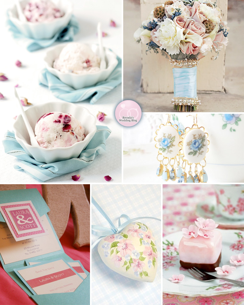 A Pastel Pink and Blue Summer Wedding with Roses - Inspiration Board