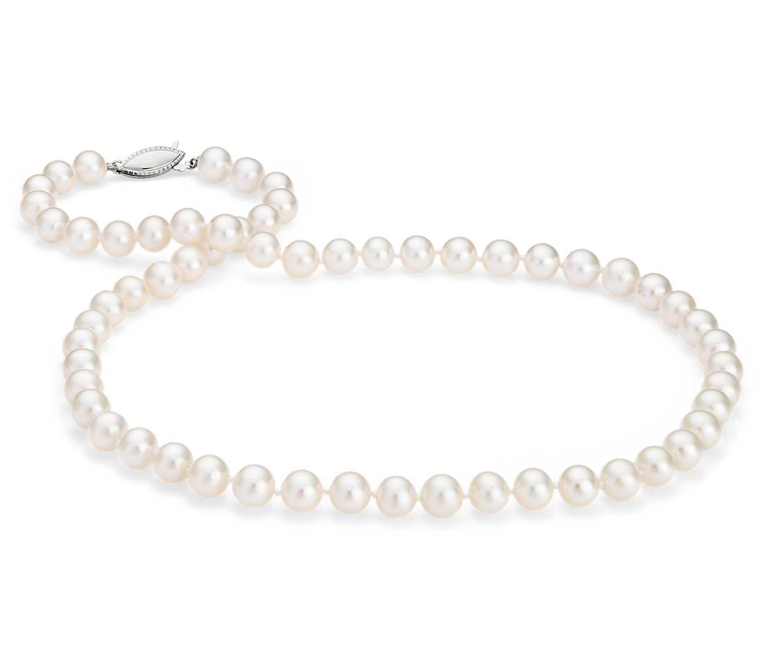 freshwater cultured pearl strand, starting at $175