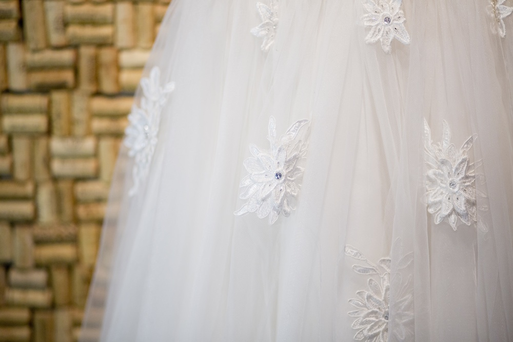 Gorgeous Details in this Retro Style Wedding Dress from The Dress Matters / photo by Krista Patton Photography