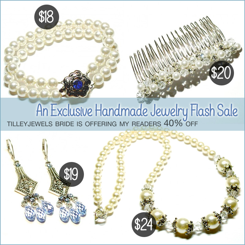 An Exclusive Flash Sale - Save 40% on Handmade Wedding Jewelry + Hair Accessories {ends Sunday}