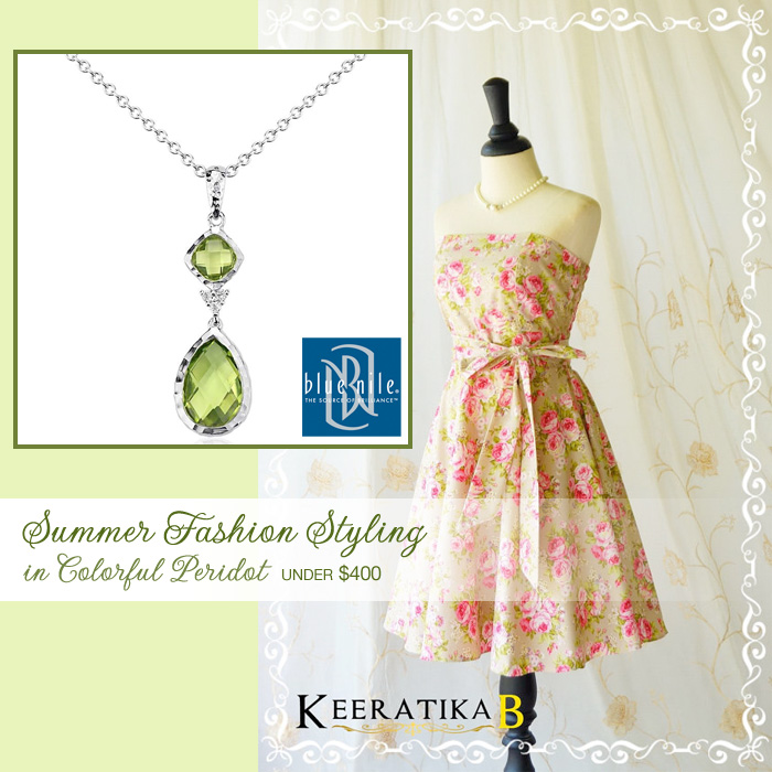 Summer Weddings : Fashion Styling in Colorful Peridot Green for Under $400