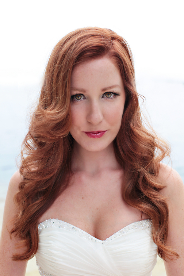 Beautiful Red Haired Bride from a Little Mermaid Inspired Wedding Shoot / photo by Tab McCausland Photography