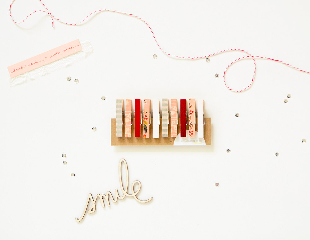 Washi Covered Mini Clothespins for Pretty Gift Packaging  | from Thurston Post