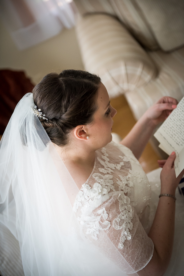 Super Pretty Lace Pronovias Wedding Gown from a New Jersey Real Wedding / photo by Havana Photography