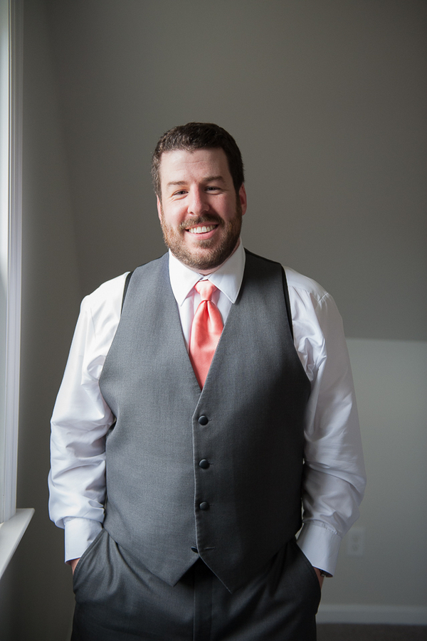 Dapper Groom in his Orange Tie / photo by Havana Photography