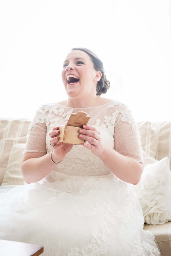 Love this Photo of the Happy Bride from a New Jersey Real Wedding / photo by Havana Photography