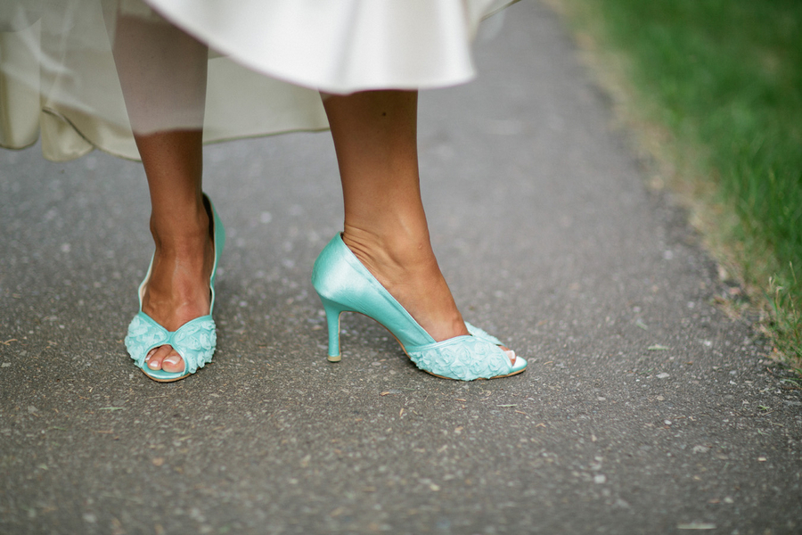 """Something Blue"" Bridal Heels / photo by Loree Photography in Canada"
