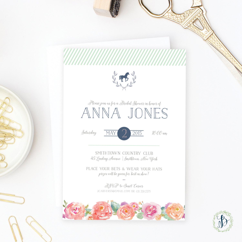 Kentucky Derby Bridal Shower Invitation | by   Bella Carta Boutique