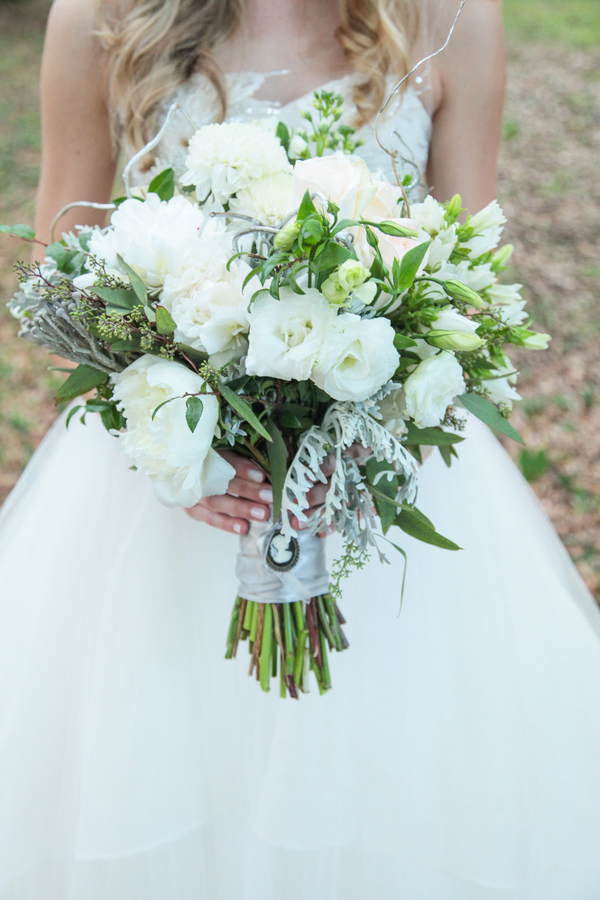 Romantic Inspired Wedding Bridal Bouquet by Lee Forest Design / photo by Tab McCausland Photography