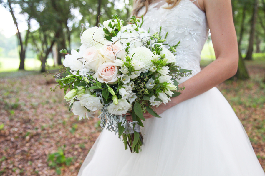 Lush White Wedding Bridal Bouquet by Lee Forest Design / photo by Tab McCausland Photography
