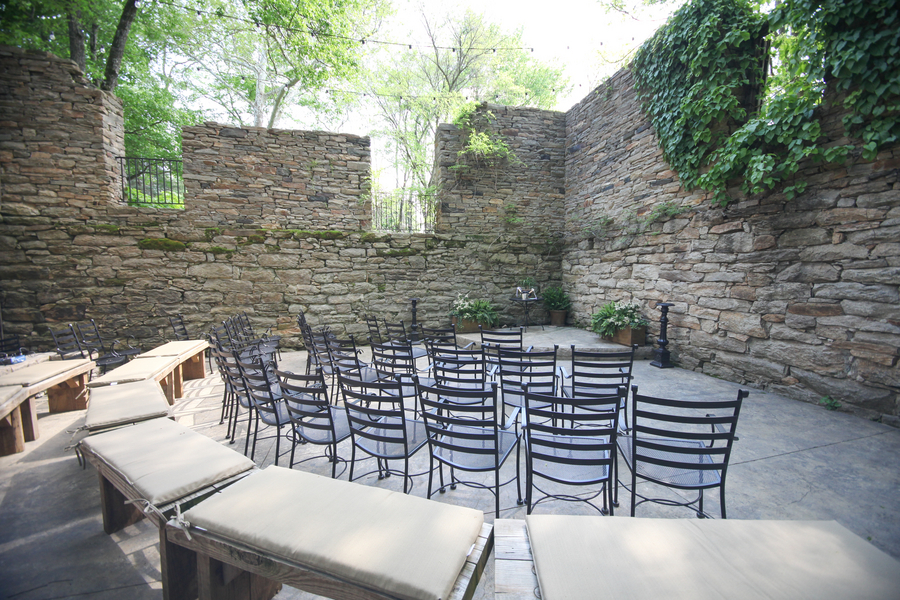 Pretty Seating Set-Up for an Intimate Outdoor Virginia Wedding / photo by Crystal Image Photography