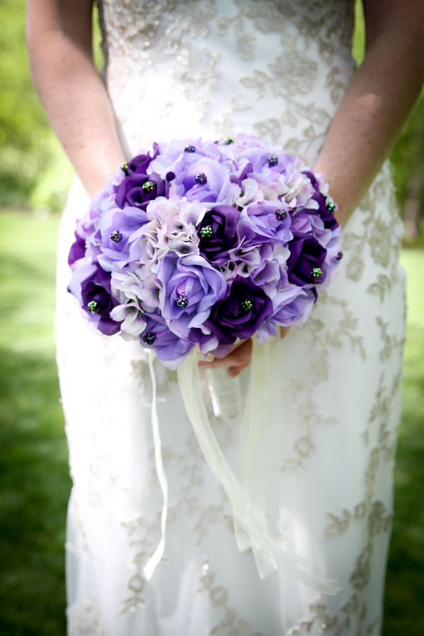 Pretty Purple Rose Bridal Wedding Bouquet / photo by Crystal Image Photography