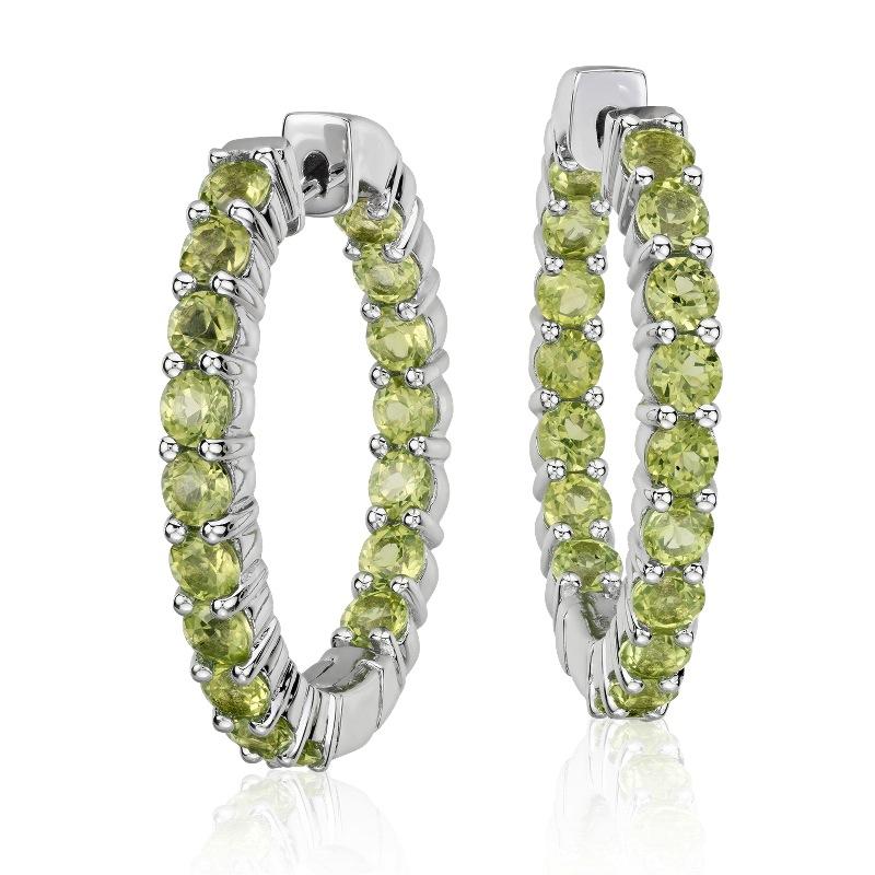 Peridot Hoop Earrings $155