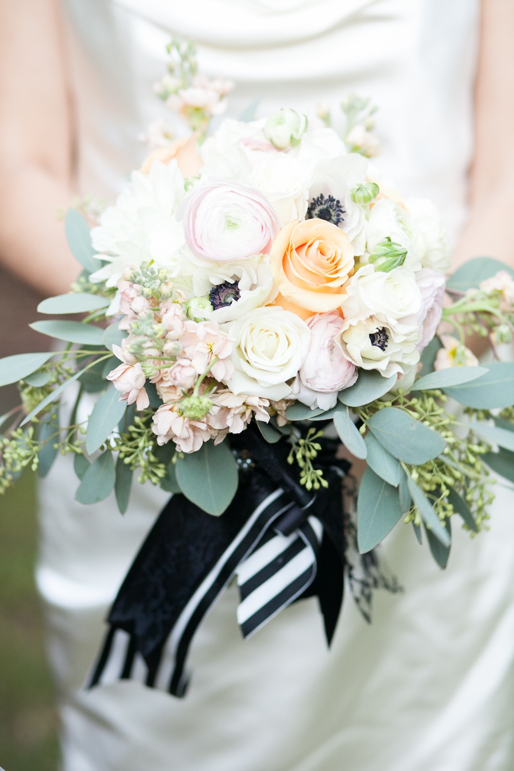 Stunning Bridal Bouquet from an Elegant Halloween Wedding Styled Shoot / florals by EightTreeStreet / photo by {a}strid Photography