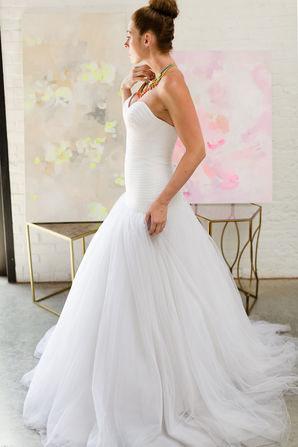 Wedding Dress for a Modern Neon Inspired Celebration / dress from Designer Loft NYC / photo by Jessica Haley Photography