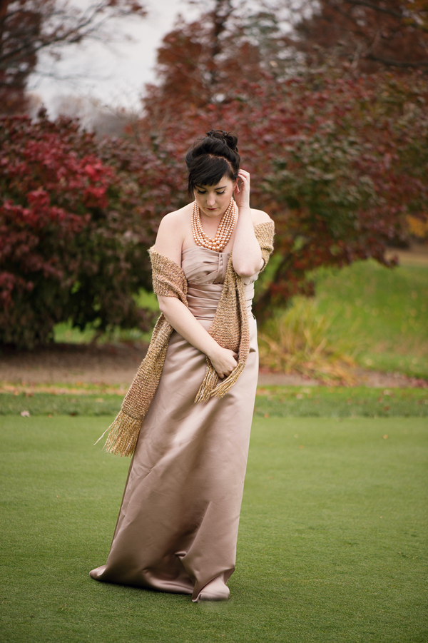 Rustic Fall + Winter Wedding Inspiration - Gold Bridesmaid Attire / photo by Evelyn Alas Photography