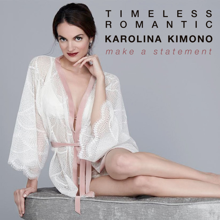 The Karolina Kimono - a timeless and romantic wedding gift for the bride