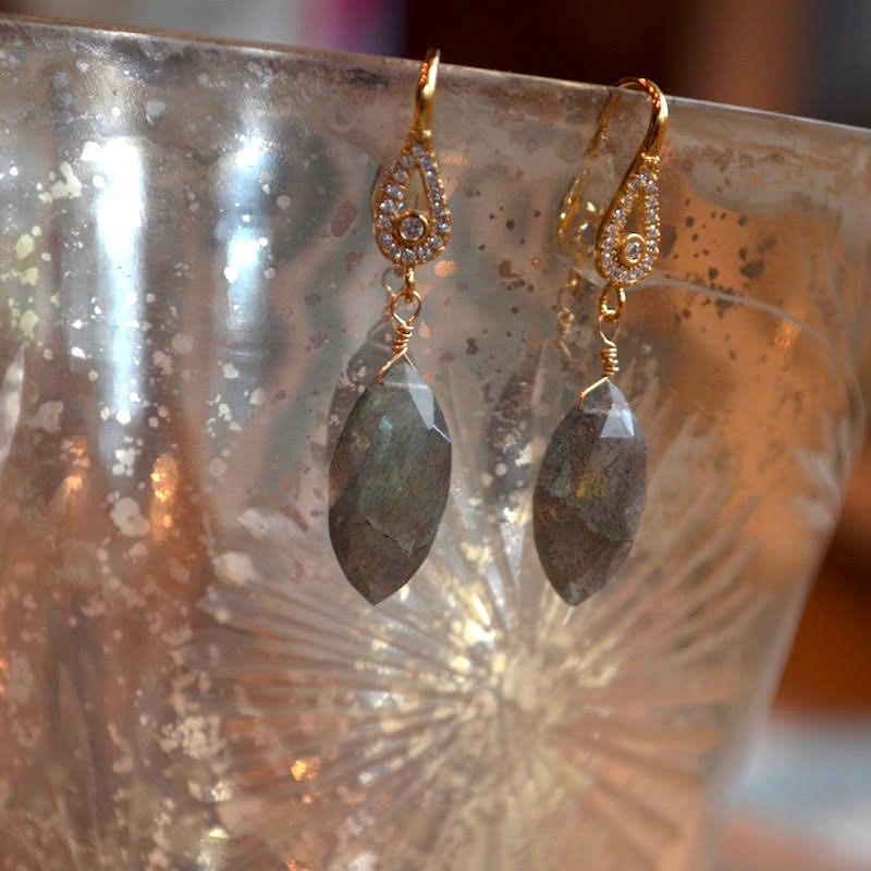 Marquee Labradorite Earrings - beautiful gifts for bridesmaids {or anyone special}