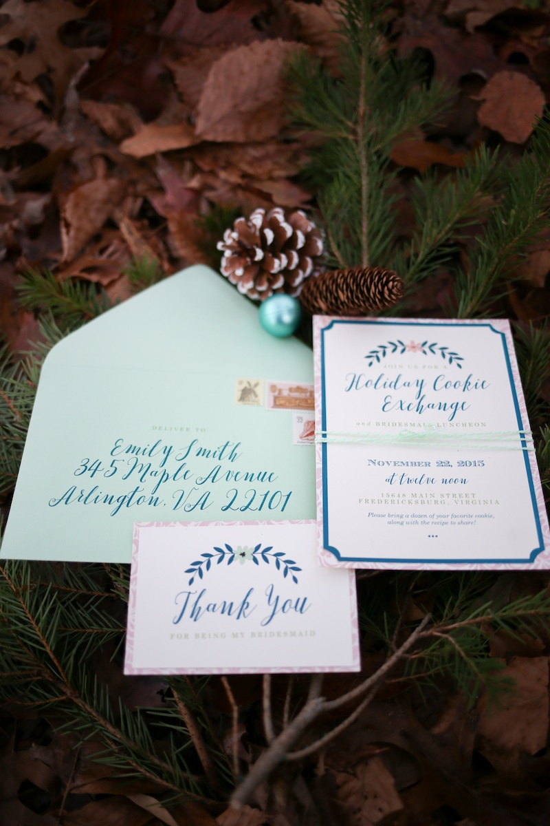 Host a Holiday Cookie Exchange to Say Thank You for Being My Bridesmaid / stationery by Allison Barnhill Design and Allison Dee Calligraphy / photo by Debbie Ringle Photography