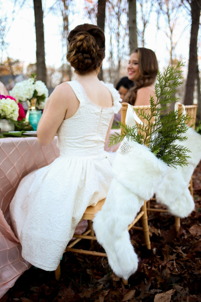Holiday Cookie Exchange to Celebrate Your Bridesmaids / dress by Charlotte Russe / photo by Debbie Ringle Photography