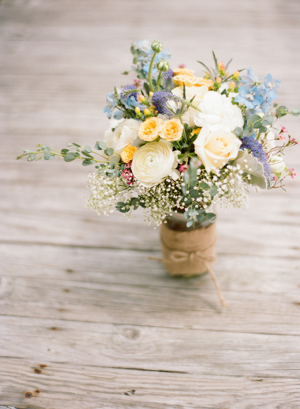 Vintage Beach Wedding in Montauk, New York / photo by Photography by Verdi / florals by East Hampton Florist